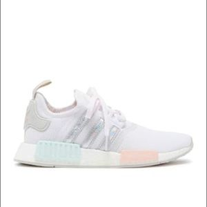 New Adidas NMD R1 white mint shoes